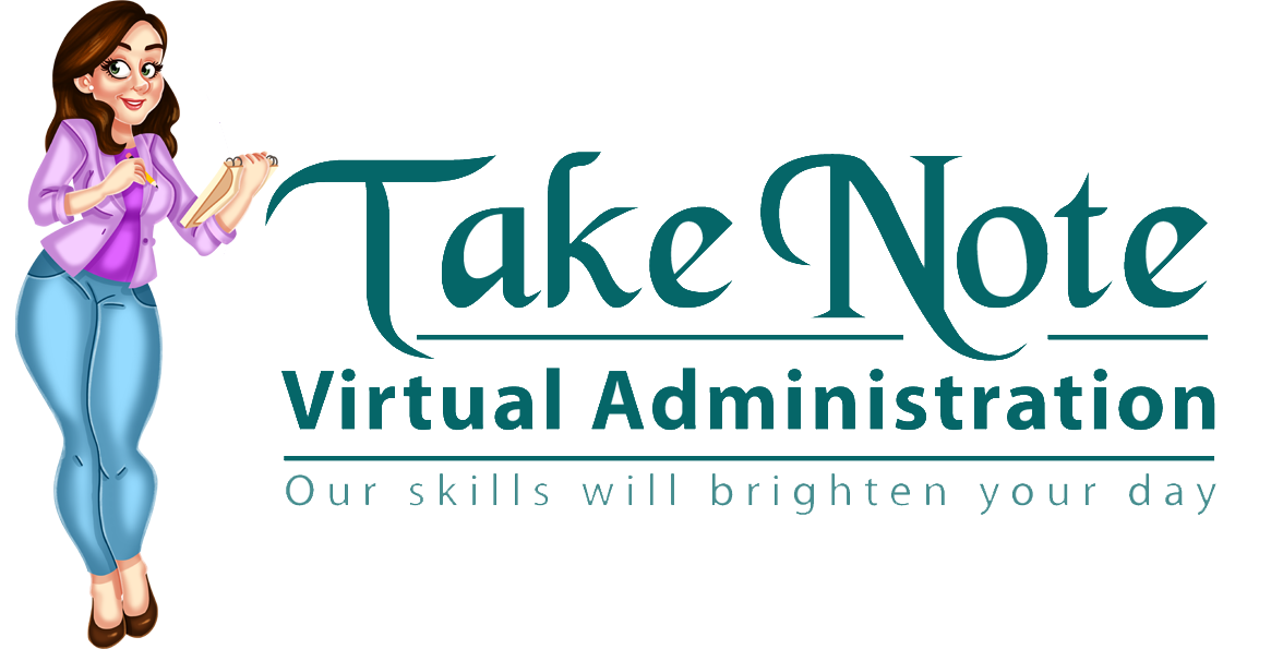 Take Note Virtual Administration - Virtual Assistant based in East Sussex